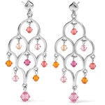 Brighton Prism Lights Sparkle Post Drop Earrings - PinkOrange