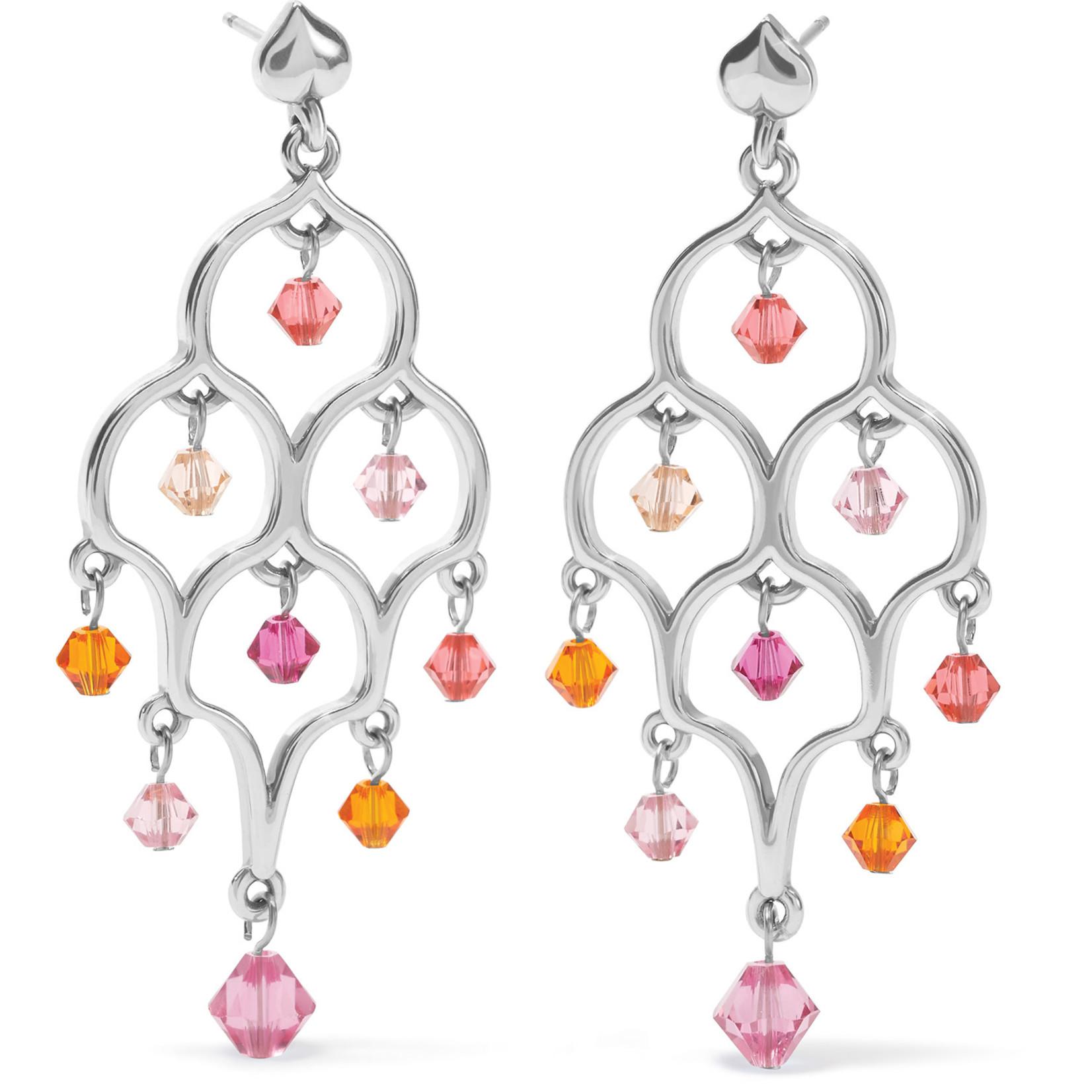 Brighton Prism Lights Sparkle Post Drop Earrings - PinkOrange