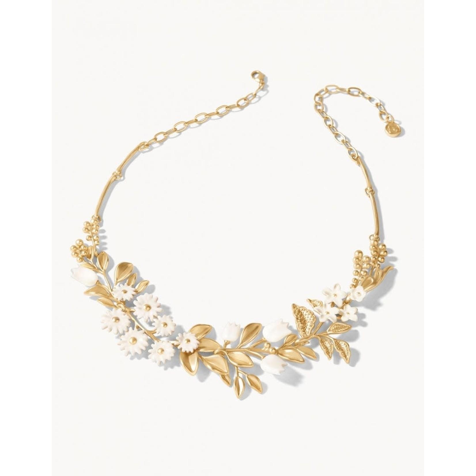 "Spartina Garden Party Statement 18"" Necklace - White"