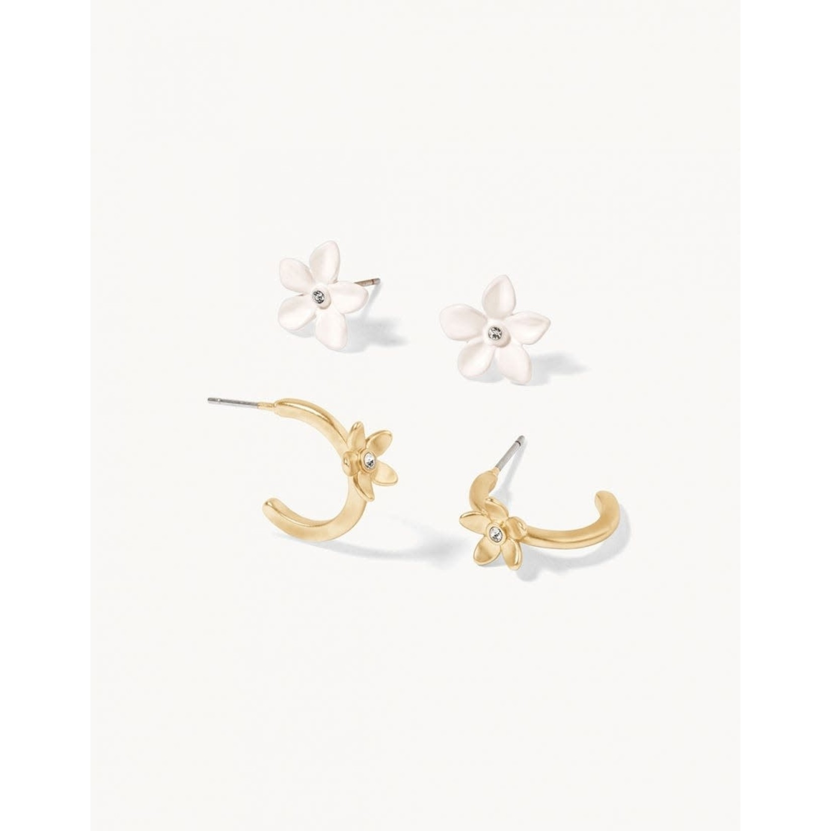 Spartina Garden Party Stud Earrings Set White - 2 pr