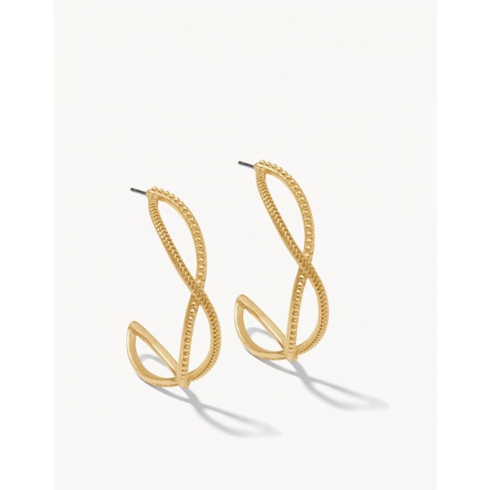 Spartina Harbor Wave Hoop Earrings - Gold