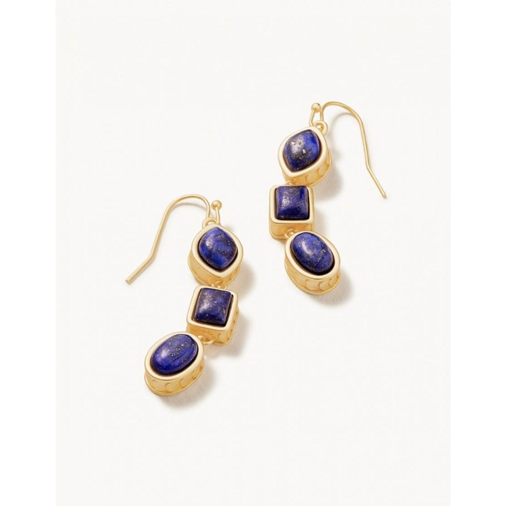 Spartina Naia Linear Drop Lapis Earrings