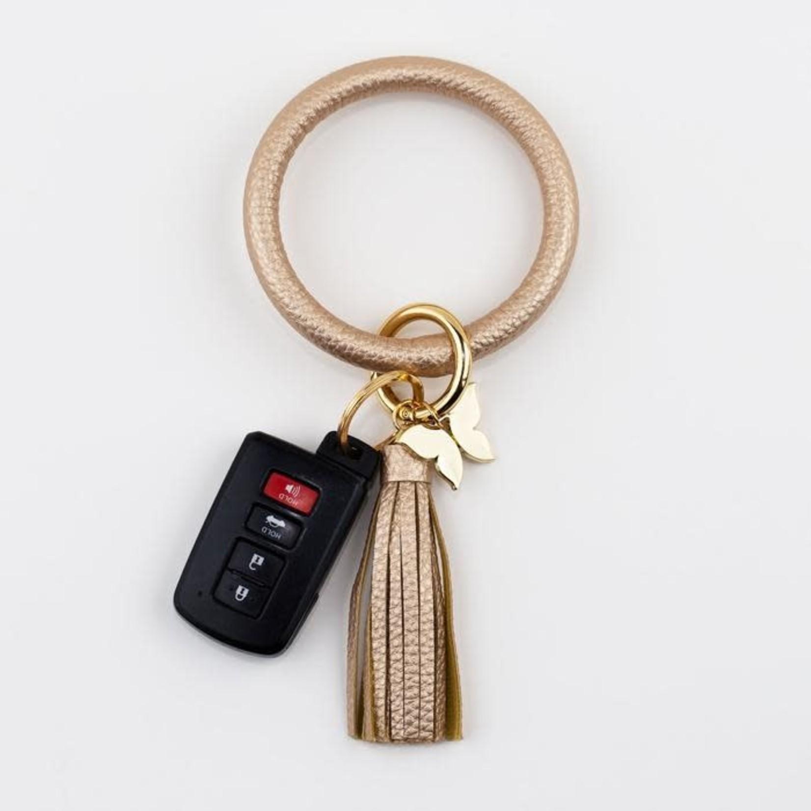 Bangle Key Ring - Metallic Gold