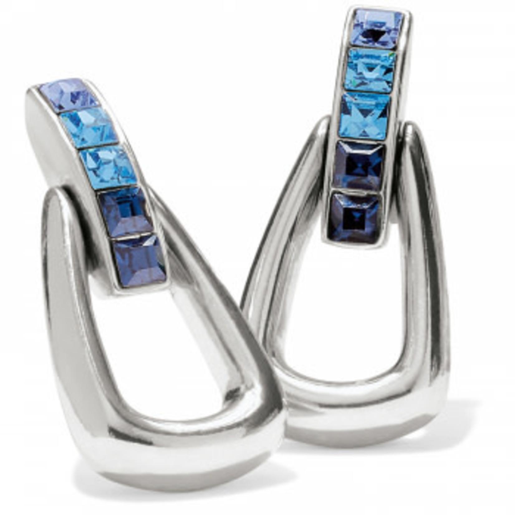 Brighton Spectrum Loop Post Drop Earrings in Silver-Blue