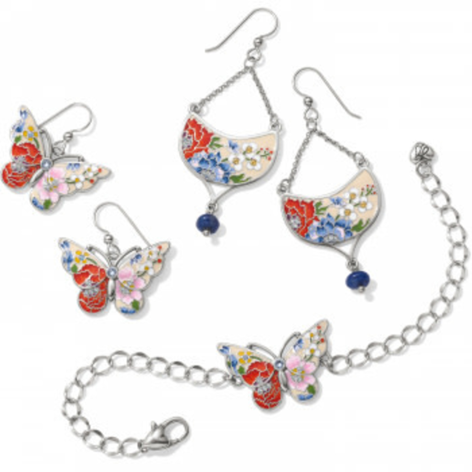 Brighton Blossom Hill Butterfly French Wire Earrings