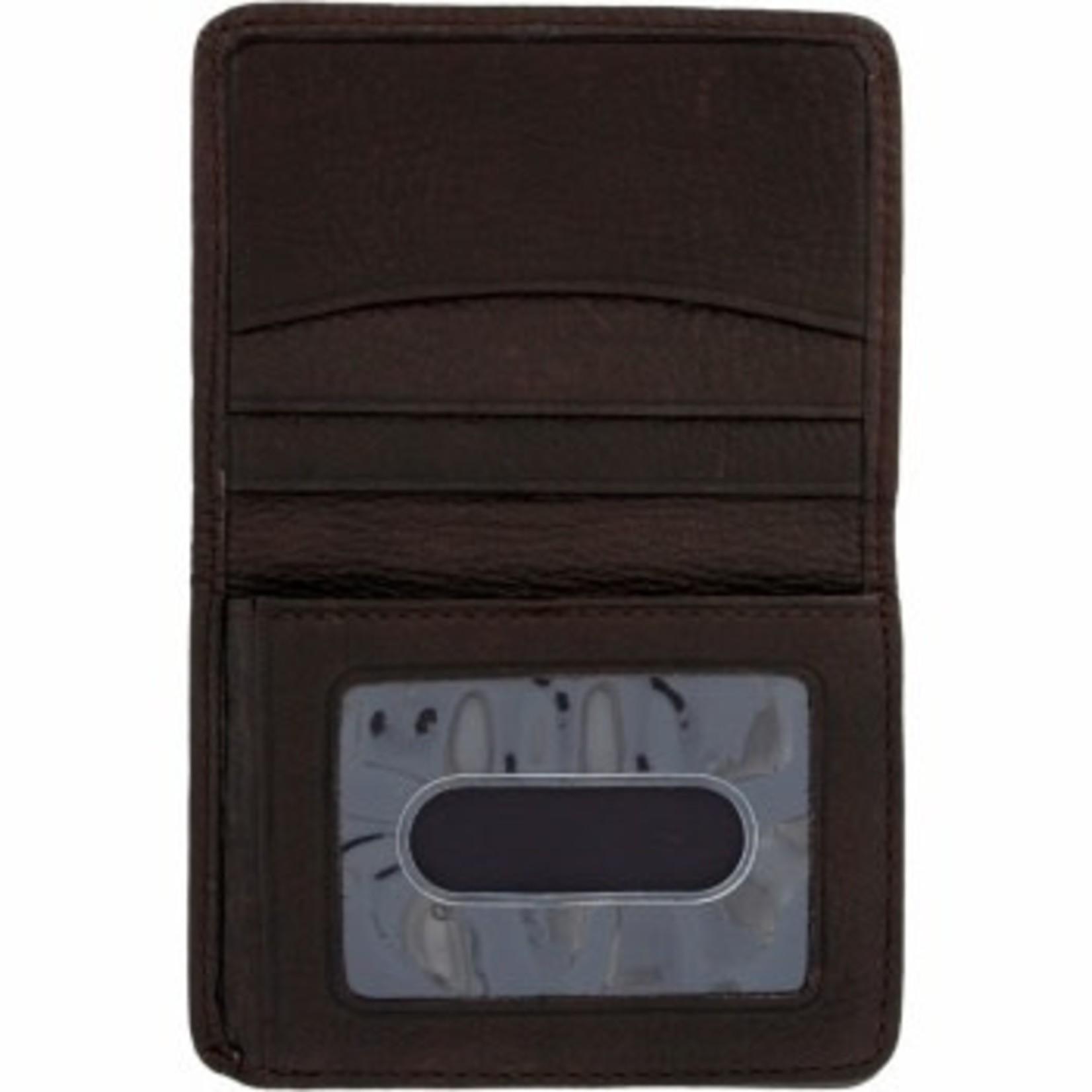 Brighton Jefferson Flip Wallet in Espresso
