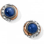 Brighton Neptune's Rings Brazil Blue Quartz Button Earrings