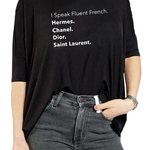 Los Angeles Trading Co Fluent French One Size Tee in Black