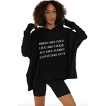 Los Angeles Trading Co Dress Like Coco One-Size Hooded Poncho in Black