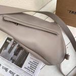 Faux Leather Sling Bag in Mushroom Grey