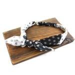 Pullover Headband in Black w/ Polka Dots