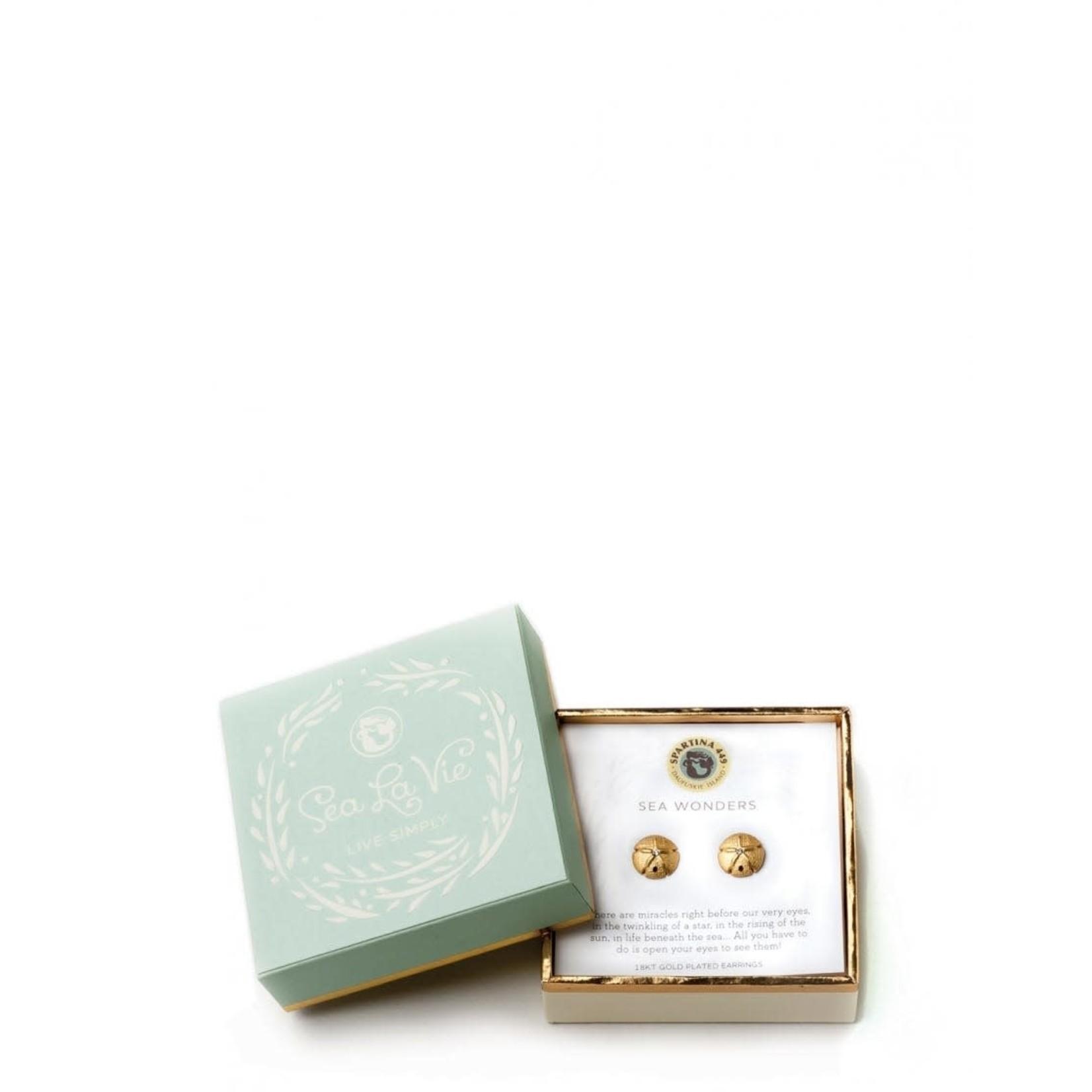 Spartina Sea La Vie Stud Earrings - Bloom/Magnolia Flower