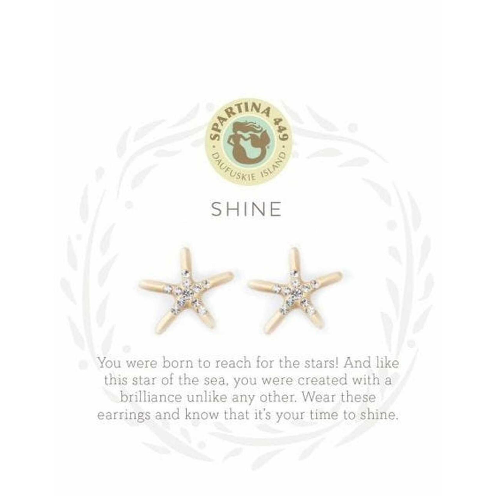 Spartina Sea La Vie Stud Earrings/Shine/Starfish