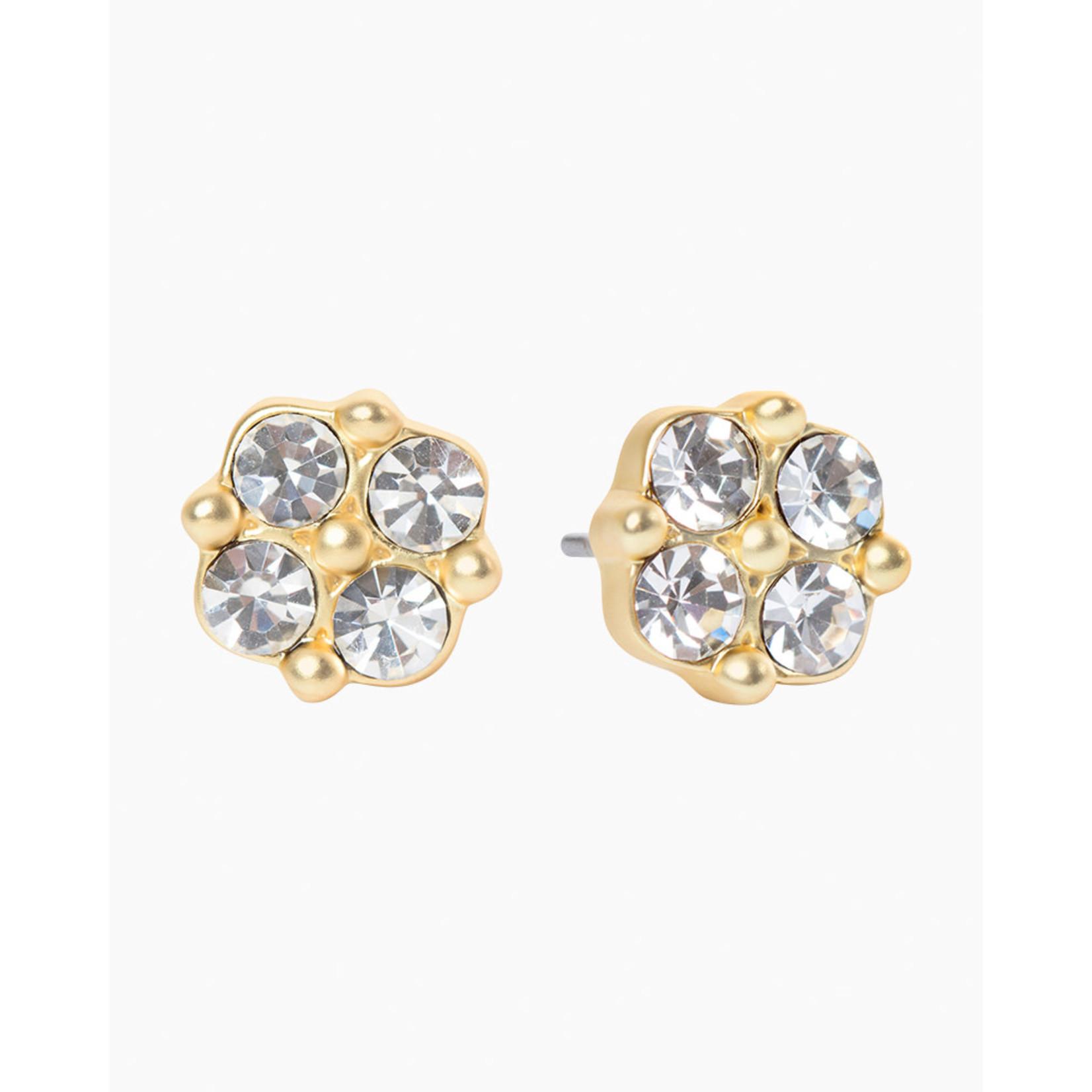 Spartina Sea La Vie Stud Earrings- Blessed/Crystal Clover