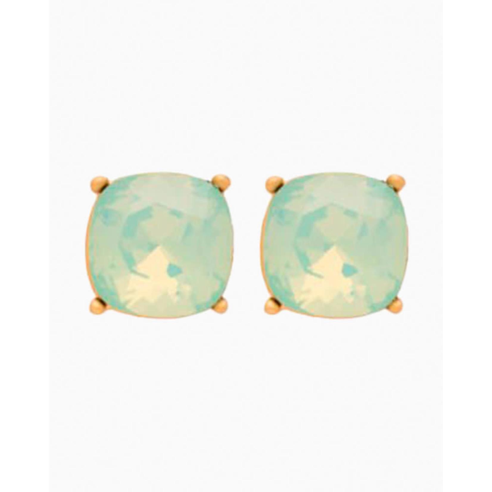 Spartina Sea La Vie Stud Earrings - Happy/Sea Green
