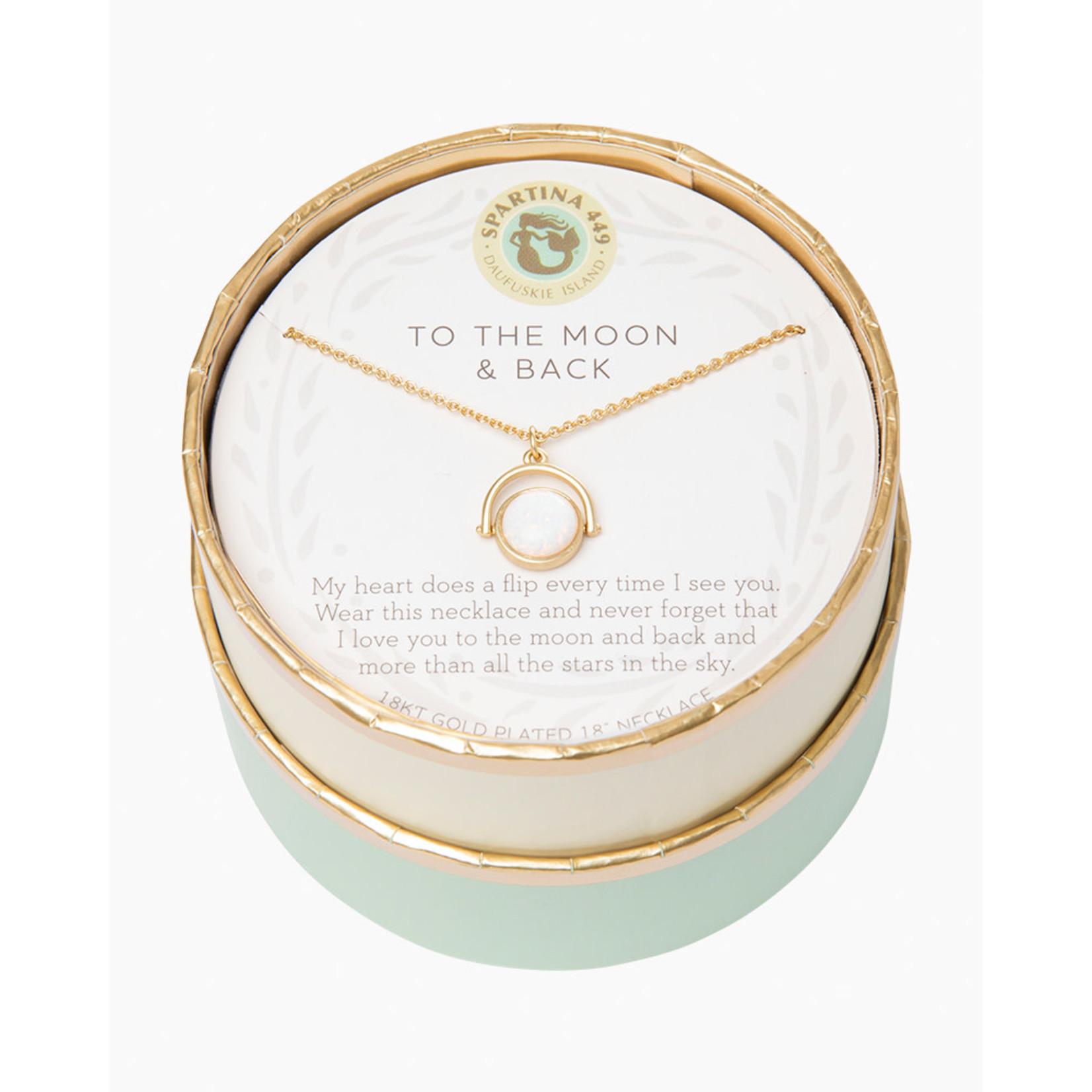 "Spartina Sea La Vie Necklace 18"" To The Moon Back/Heart Flip"