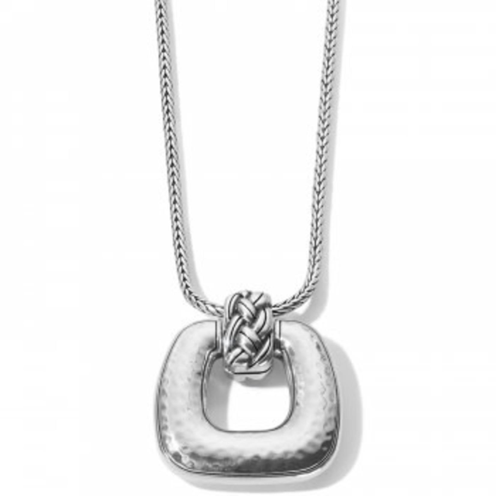 Brighton Interlok Woven Necklace Silver
