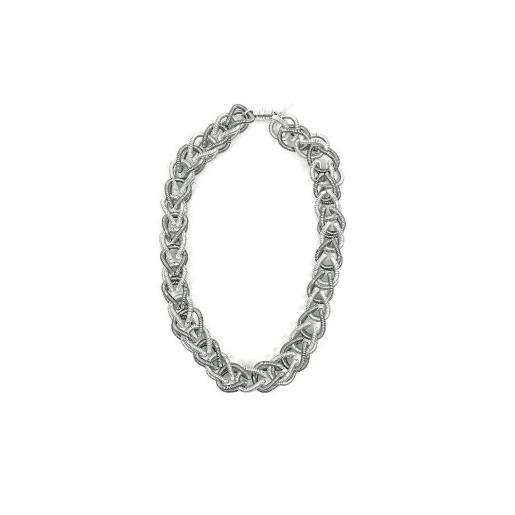 Sea Lily Silver/Slate Chain Link Necklace