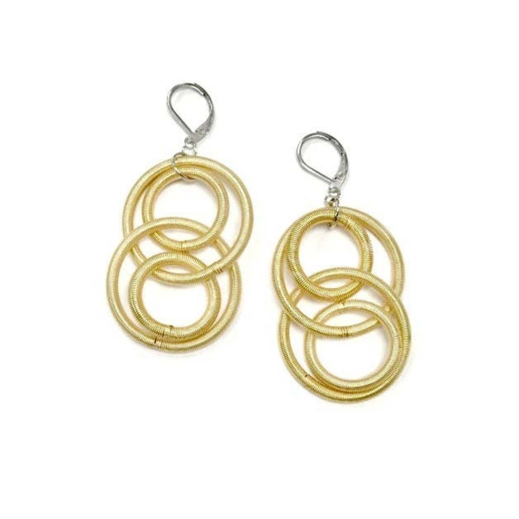 Sea Lily Bright Gold PW Large Loop Earrings