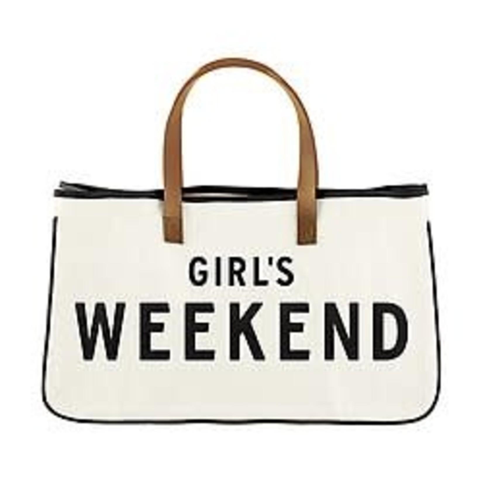 Canvas Girls Weekend Tote