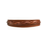 ADA Midi Leather Wrap Belt in Cognac