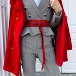 ADA Original Wrap Belt in Scarlet Python
