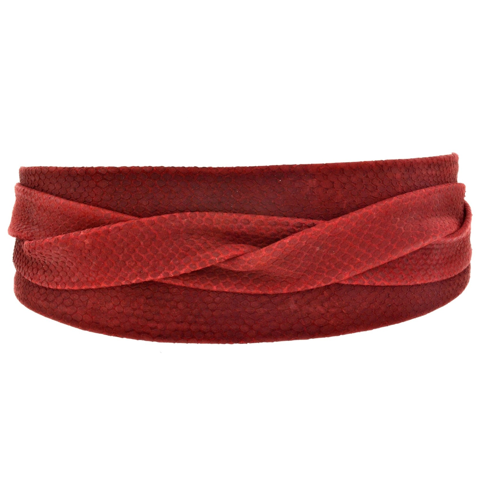 ADA Original Leather Wrap Belt in Scarlet Python