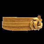ADA Original Leather Wrap Belt in Mustard