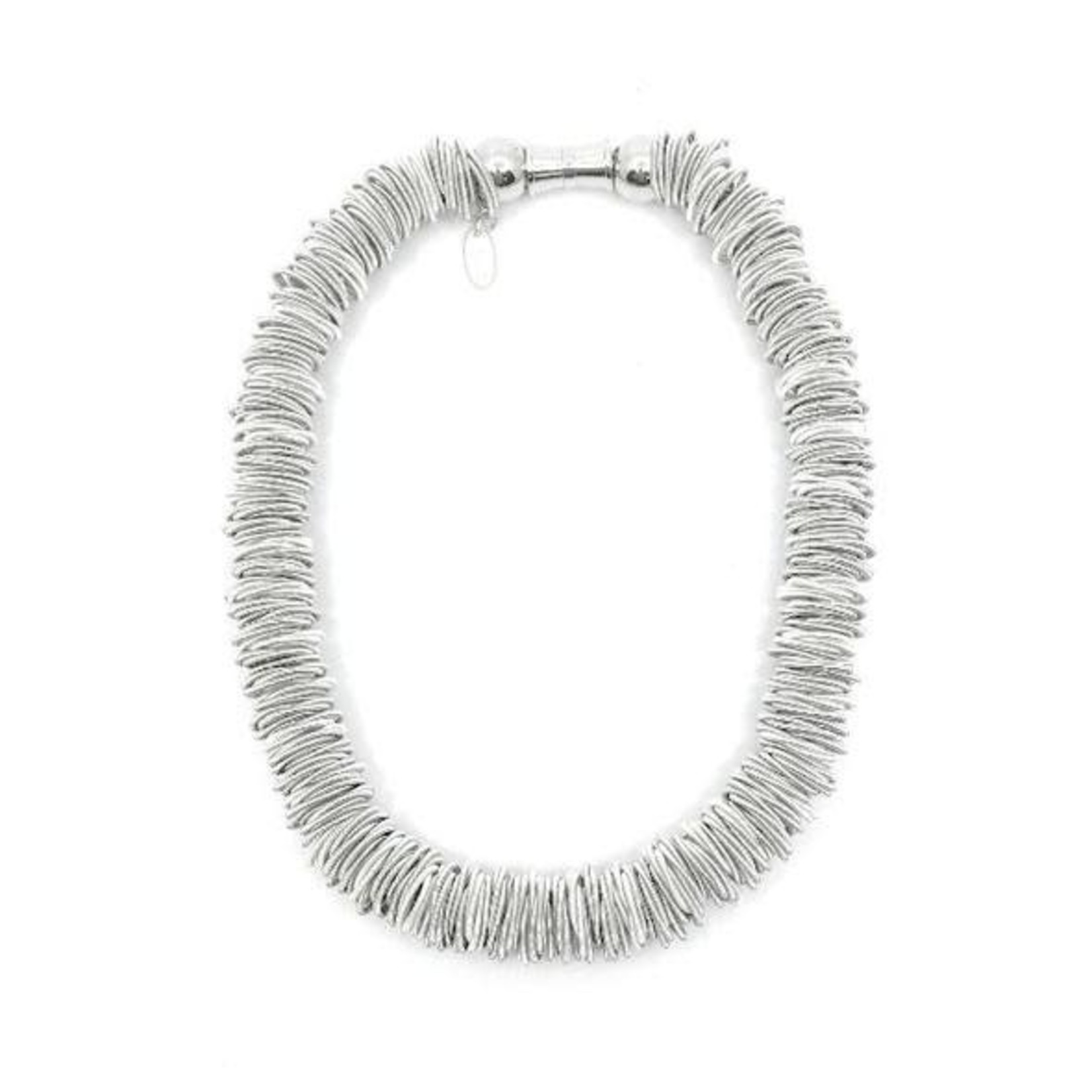 Sea Lily Spring Ring P/W Necklace in White