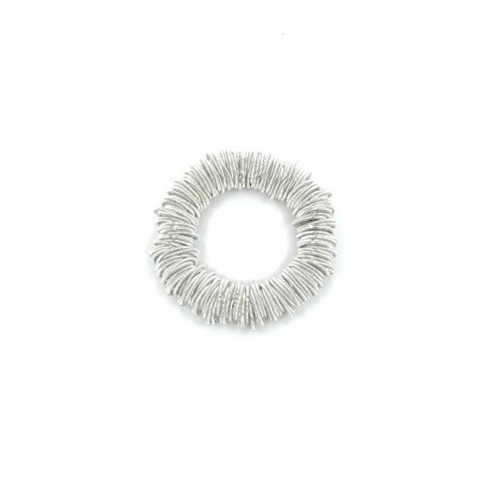 Sea Lily White Spring Ring Bracelet