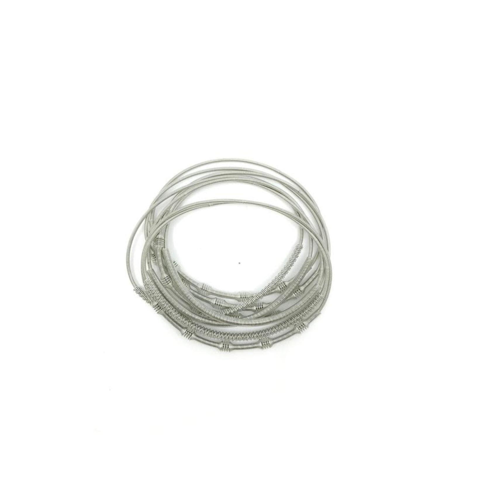 Sea Lily Silver Unbound Bracelet w/ Textured Sliding Sleeve