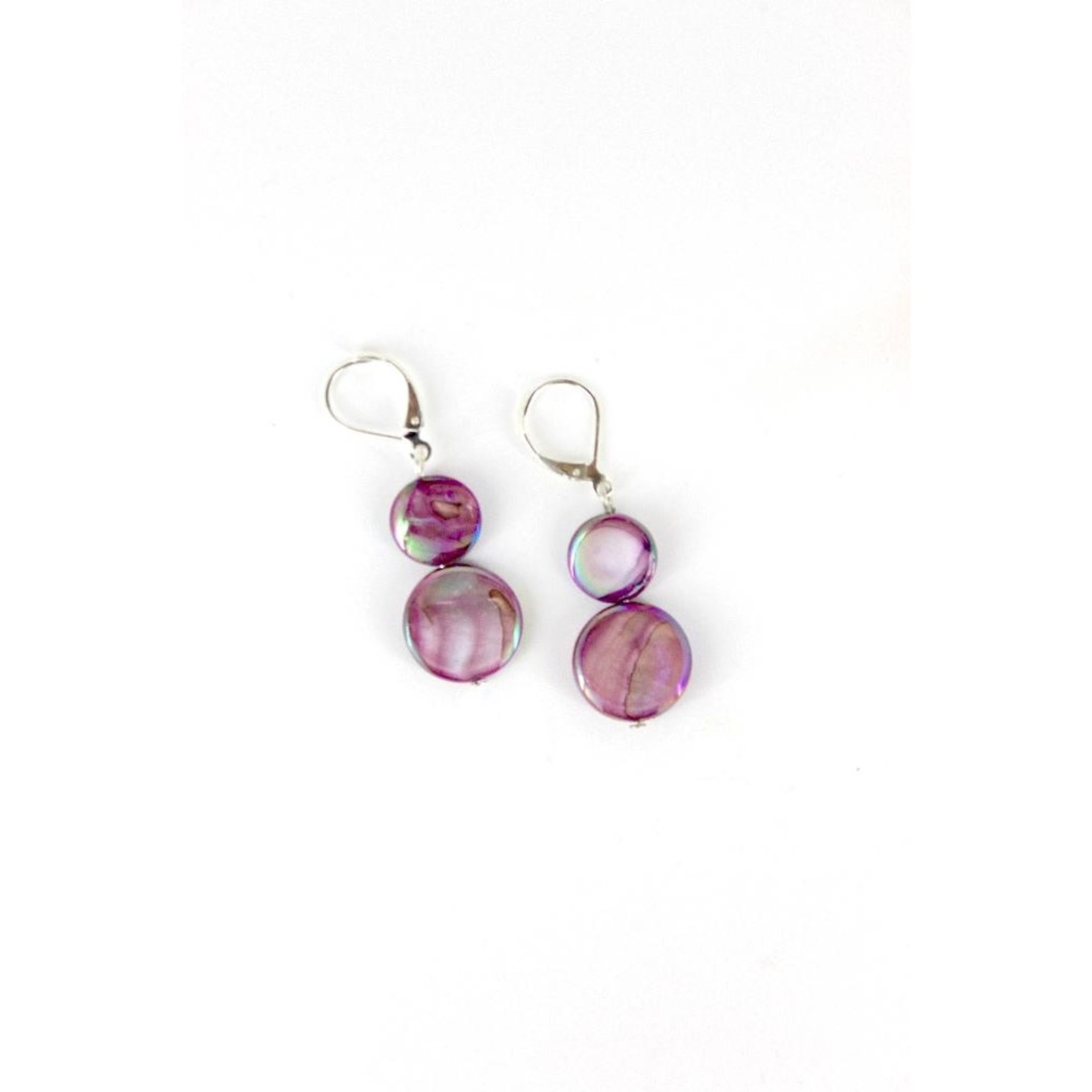 Sea Lily Purple Mother of Pearl Earring