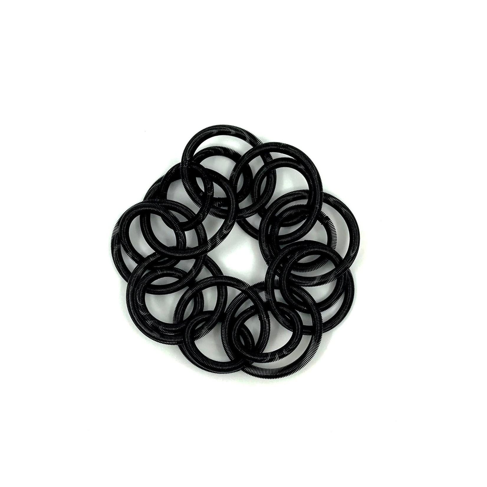 Sea Lily Black Large Loop Piano Wire Bracelet