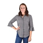 Madyson Black and White Check Button Up Blouse