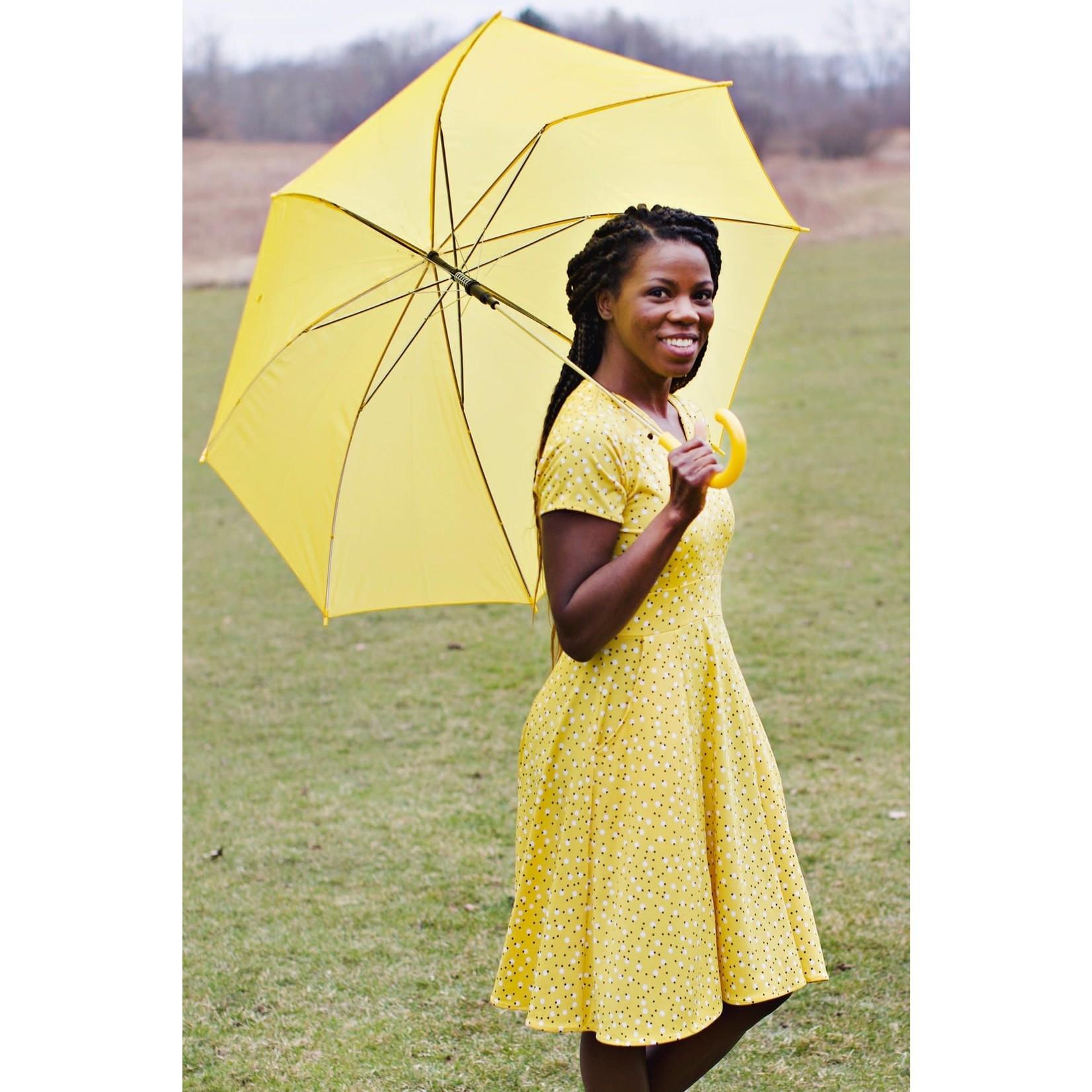 Karina Cece Short Sleeve Dress in Daffodil Dots