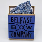 Belfast Bow Company Pocket Square in Liberty of London Navy Paisley
