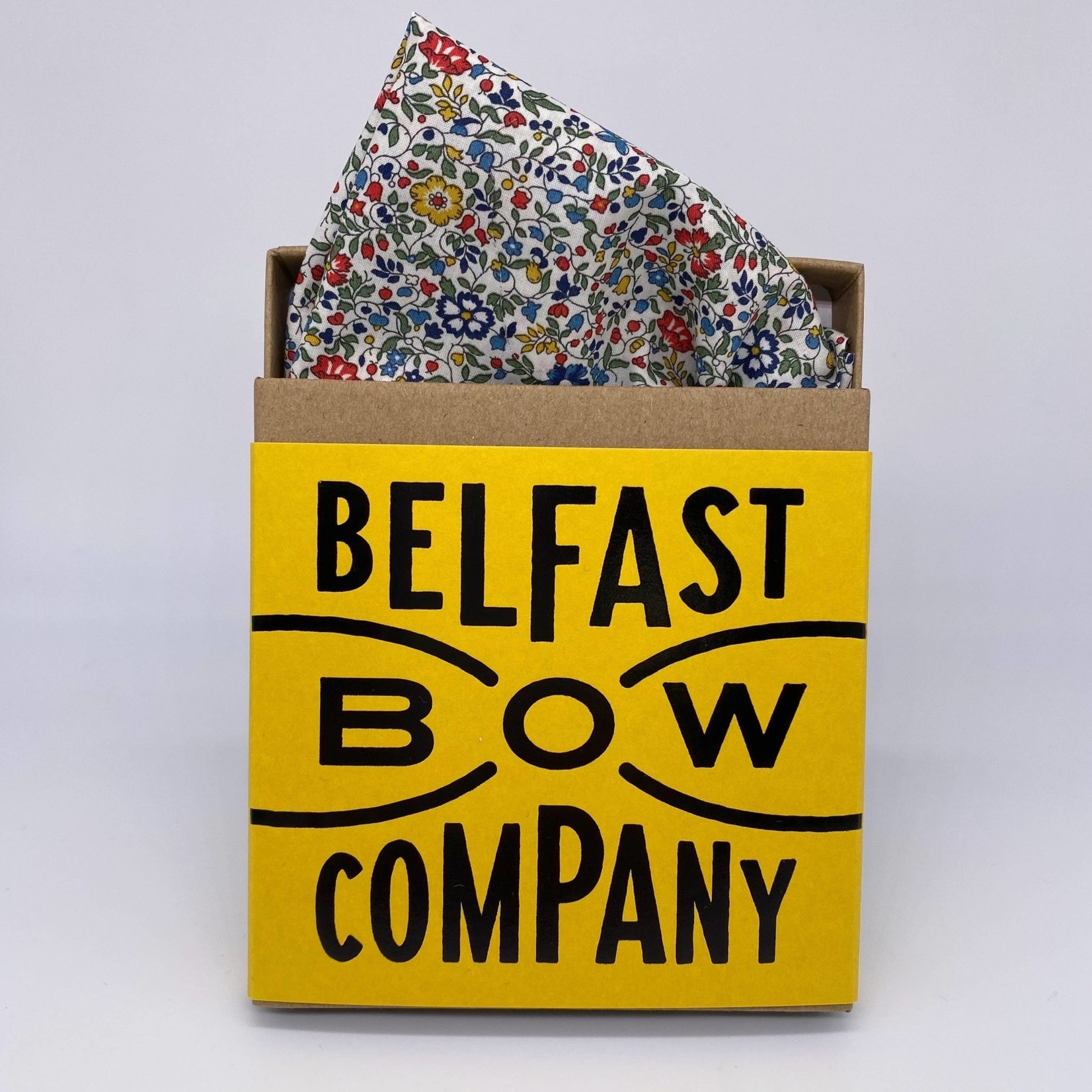 Belfast Bow Company Pocket Square in Liberty of London Multi Ditsy Floral