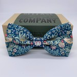 Belfast Bow Company Bow Tie in Liberty of London Green Strawberry Thief