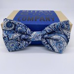Belfast Bow Company Bow Tie in Liberty of London Navy Paisley