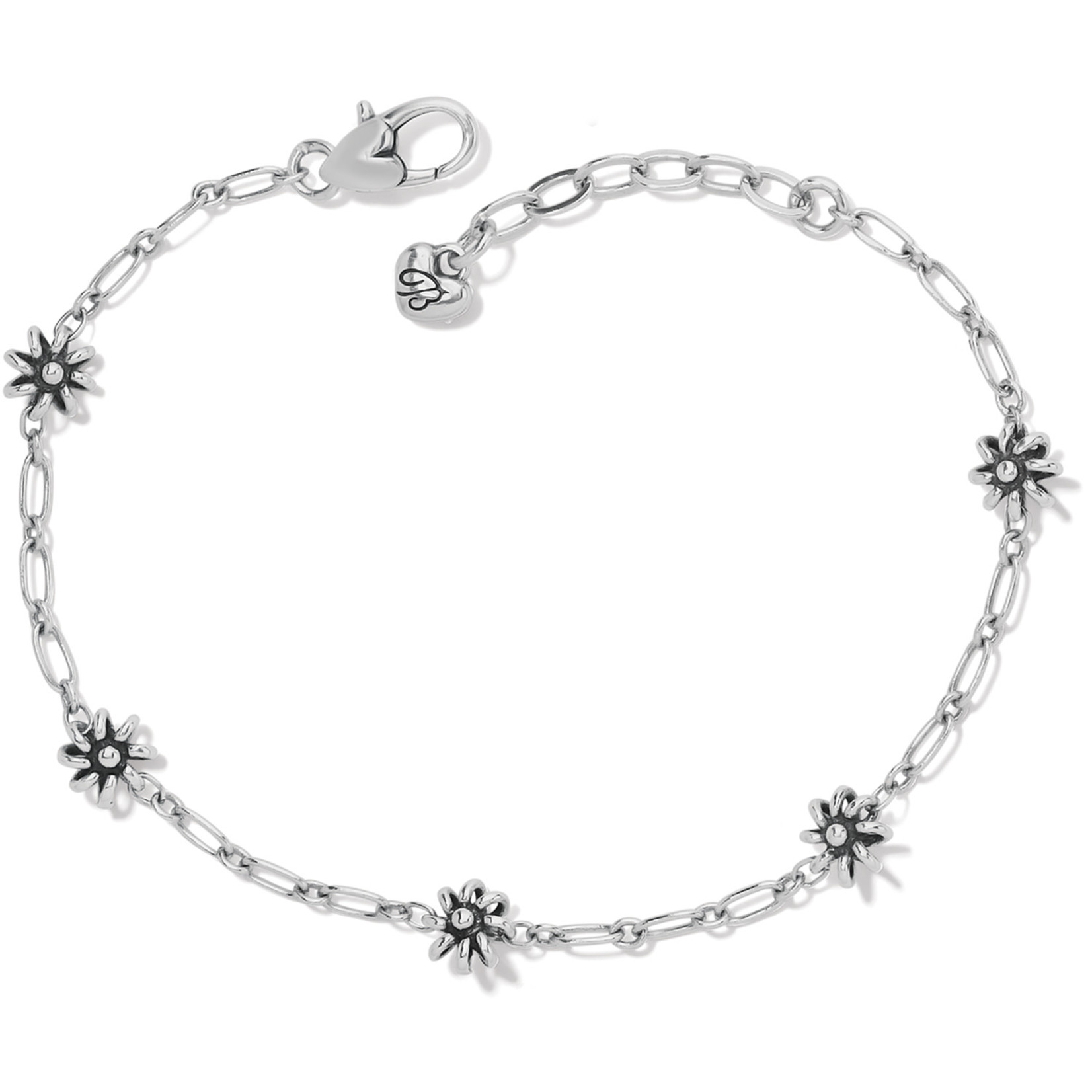 Brighton Daisy Chain Anklet - Silver