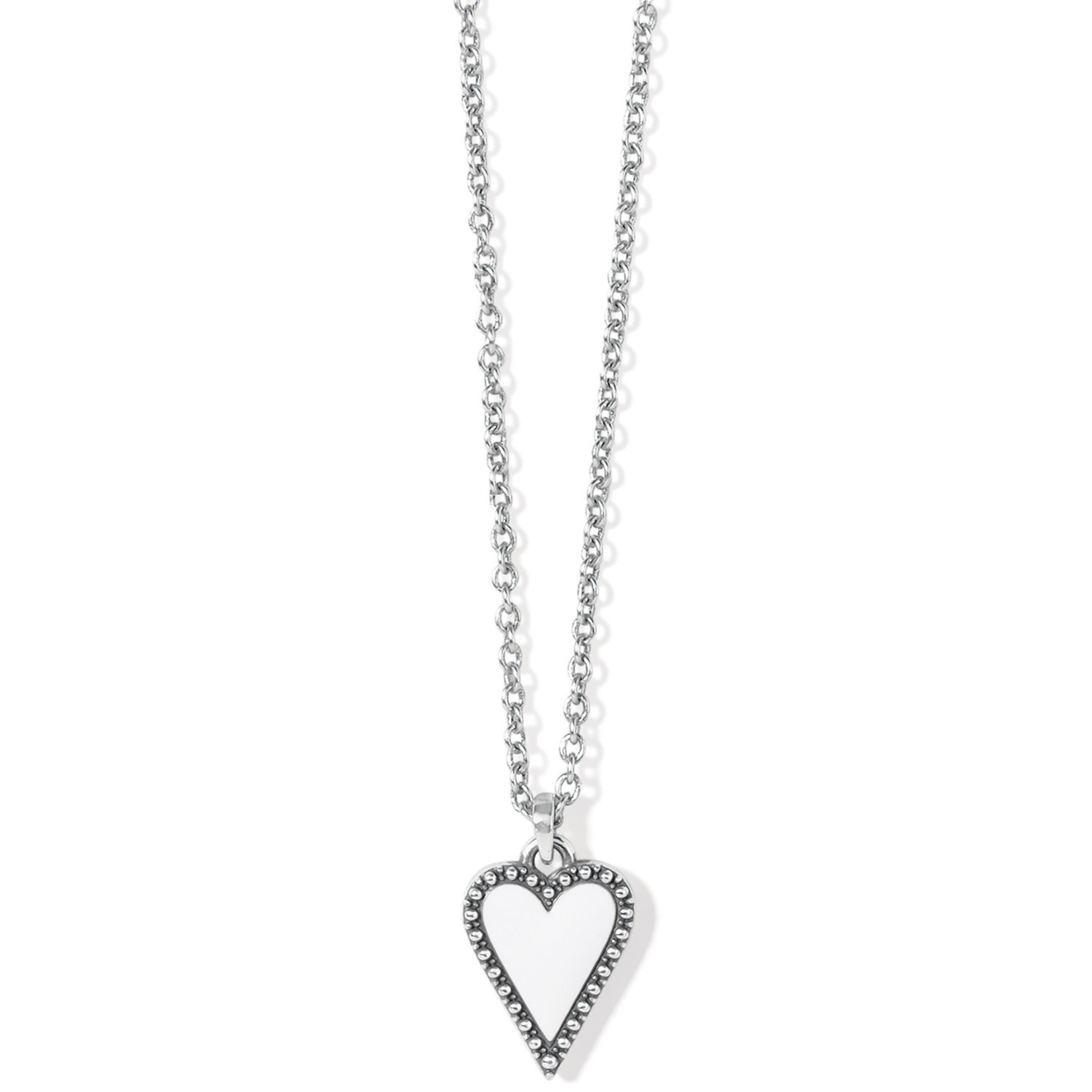 Brighton Dazzling Love Petite Necklace - Silver-White