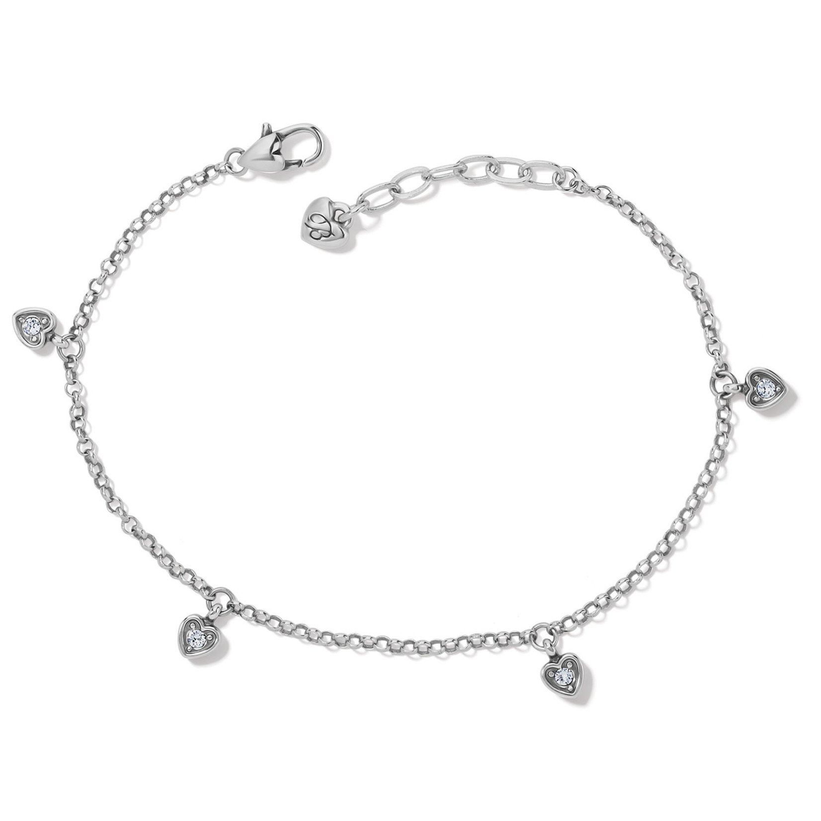 Brighton Meridian Love Notes Anklet - Silver