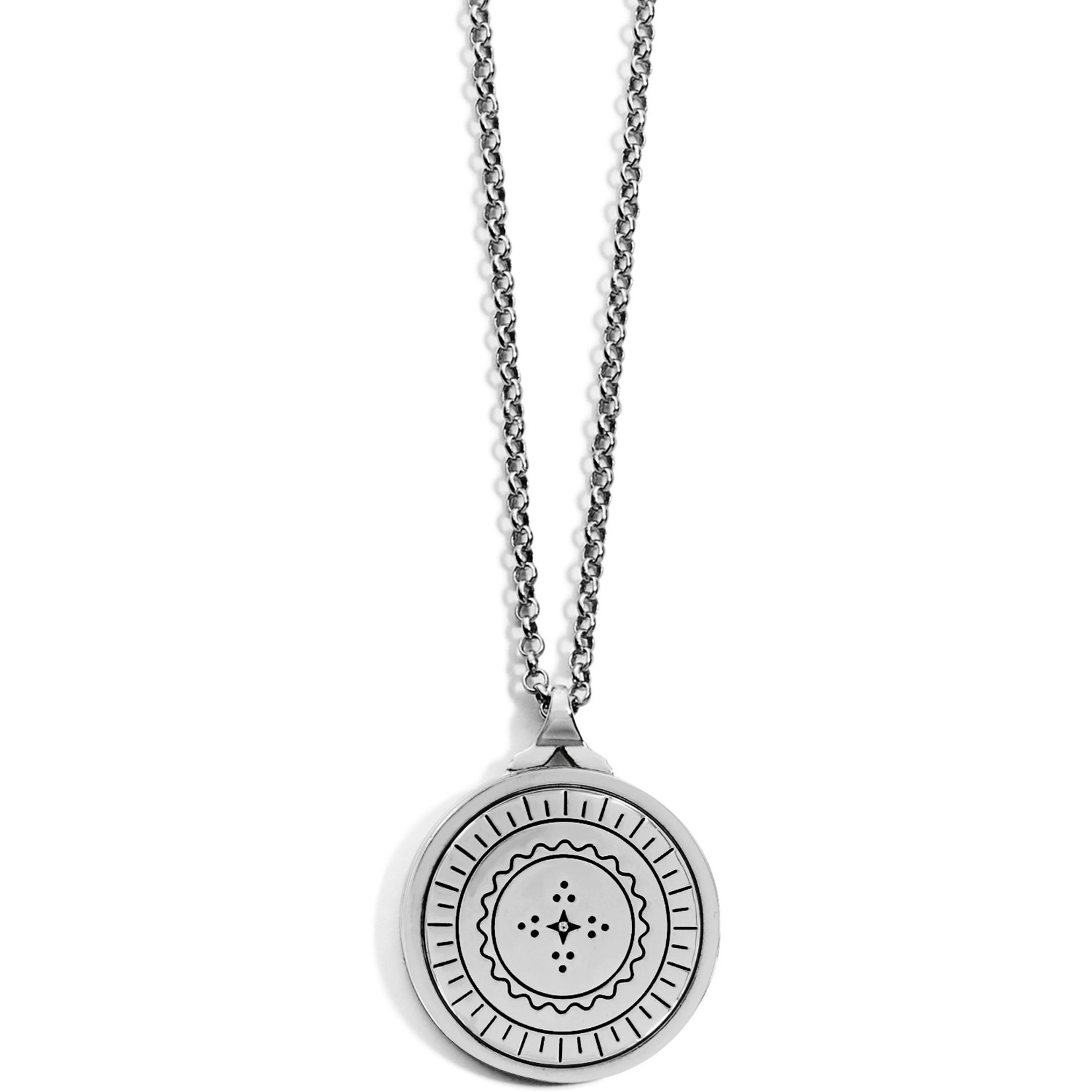 Brighton Marrakesh Mystique Pendant Necklace Silver-Blue