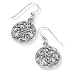 Brighton Interlok Medallion French Wire Earrings - Silver