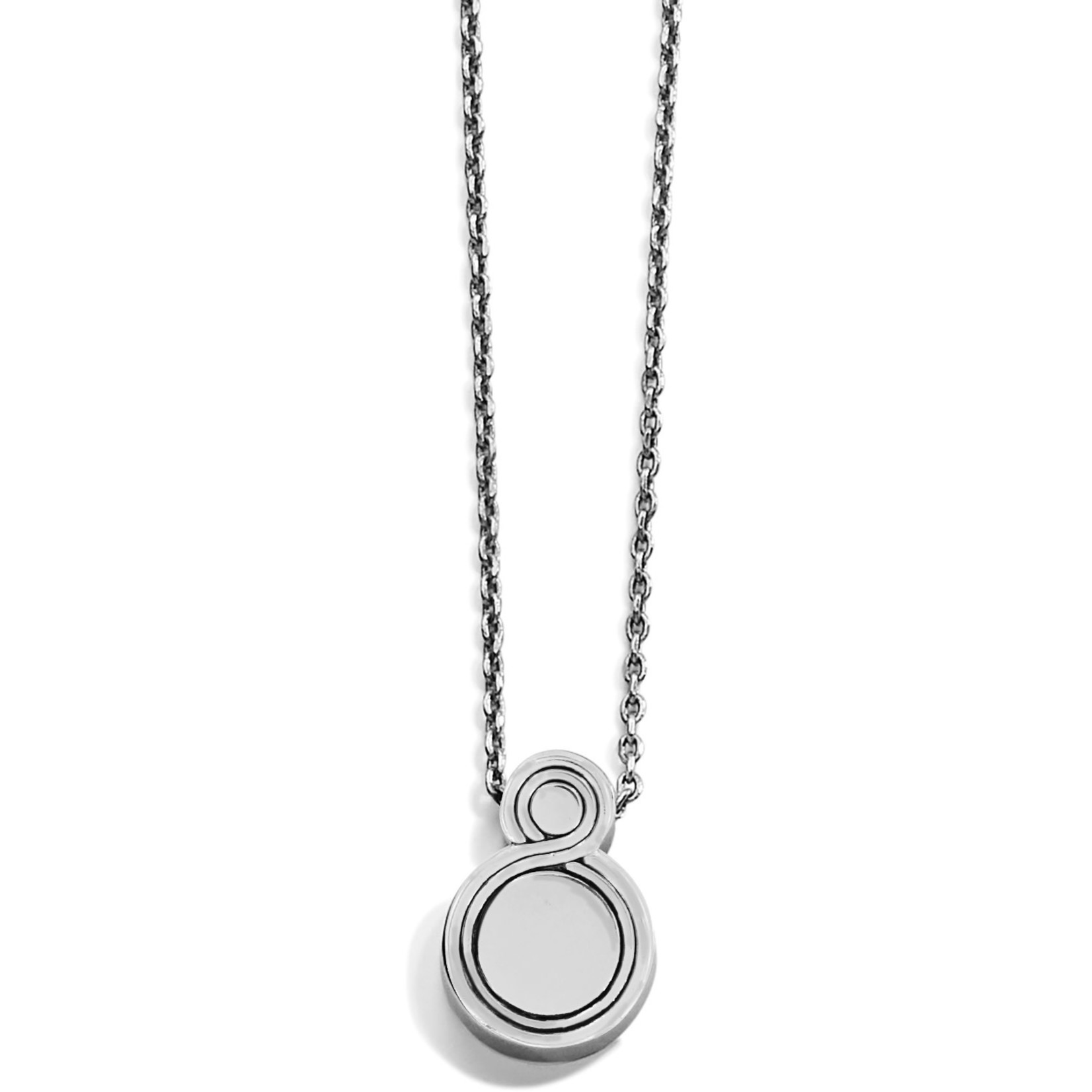 Brighton Infinity Sparkle Petite Necklace Silver-Pearl OS