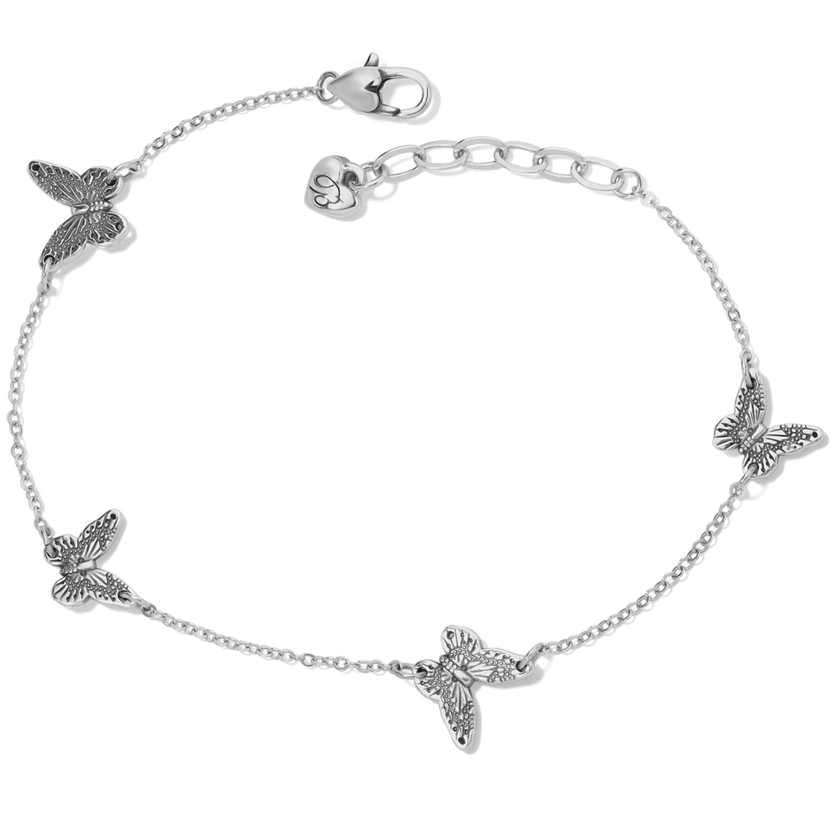 Brighton Solstice Butterfly Anklet - Silver