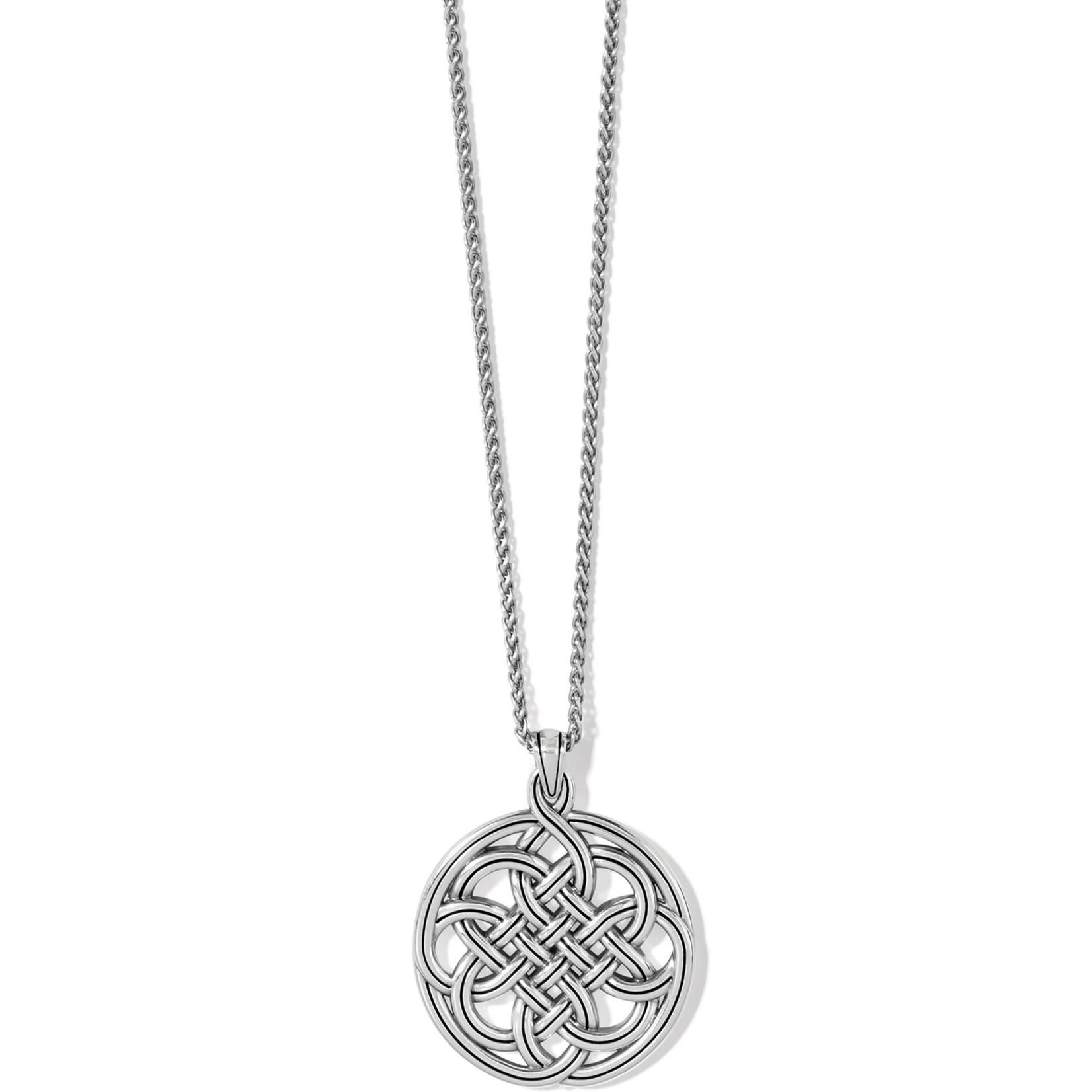 Brighton Interlok Medallion Necklace - Silver