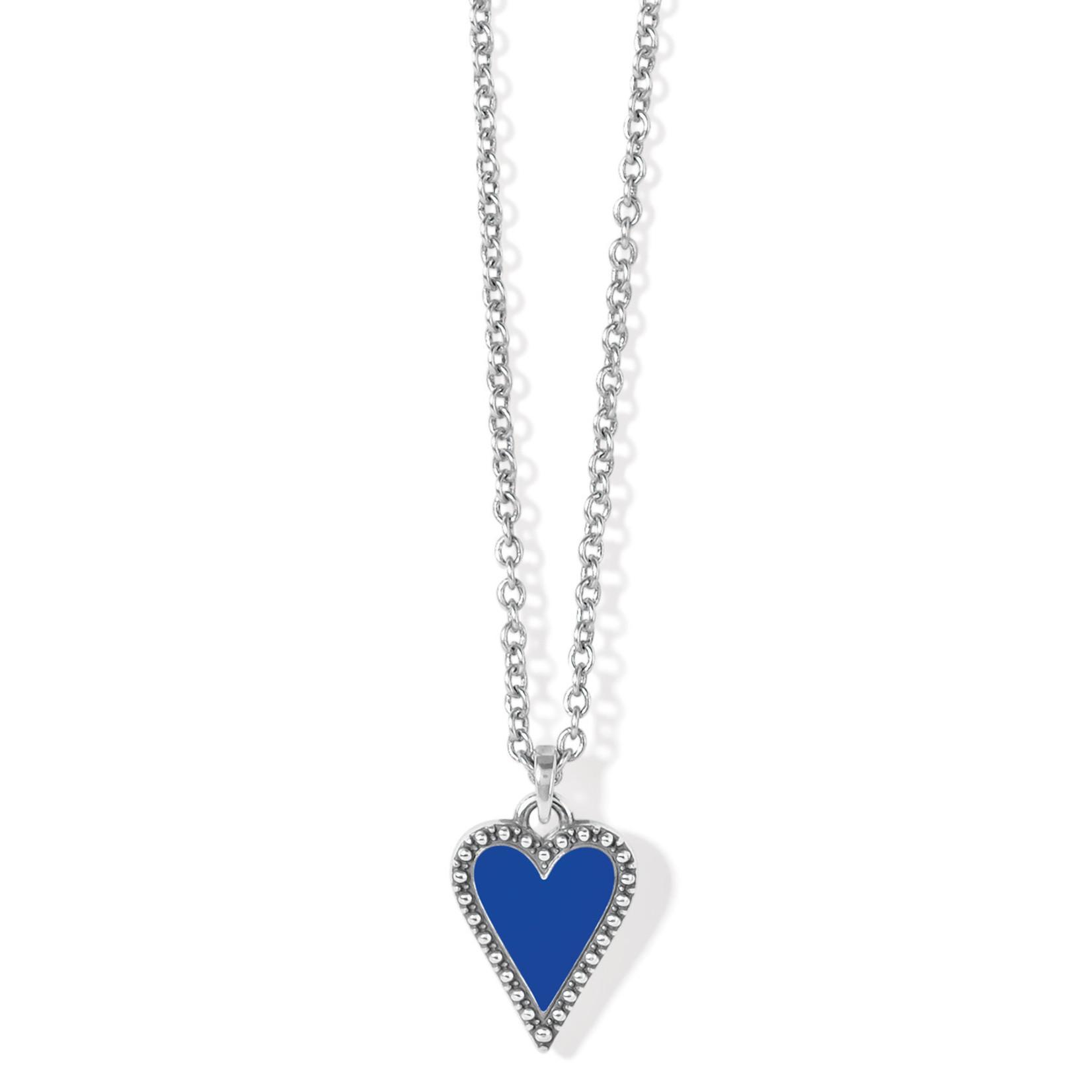 Brighton Dazzling Love Petite Necklace - Silver-Blue