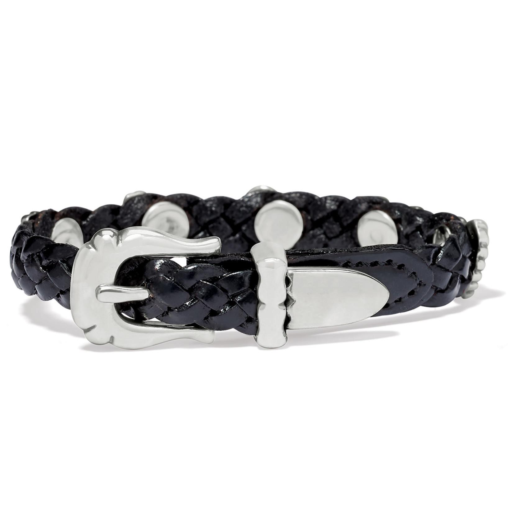 Brighton Roped Heart Braid Bandit Bracelet - Black