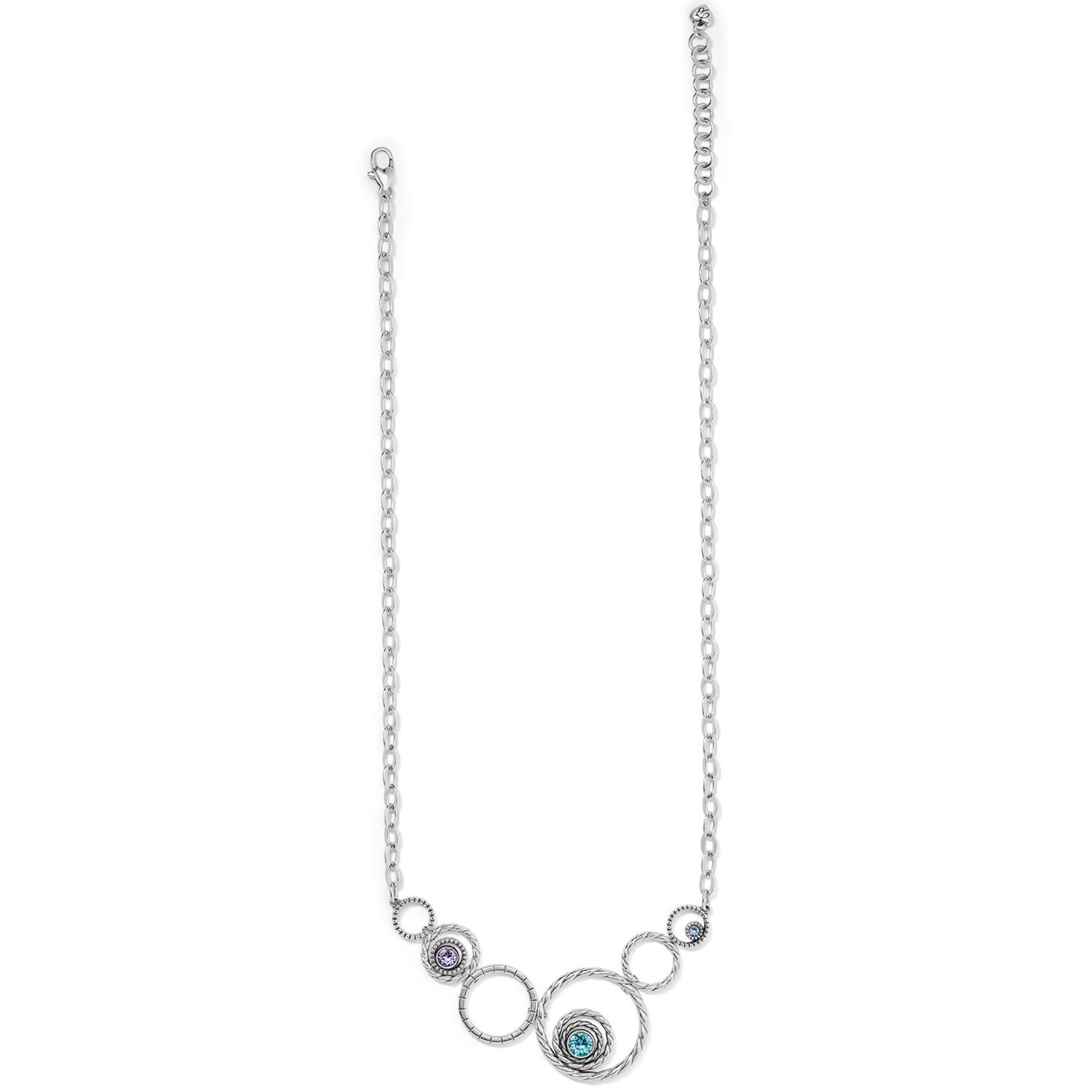 Brighton Halo Radiance Statement Necklace - Silver-Tanzanite